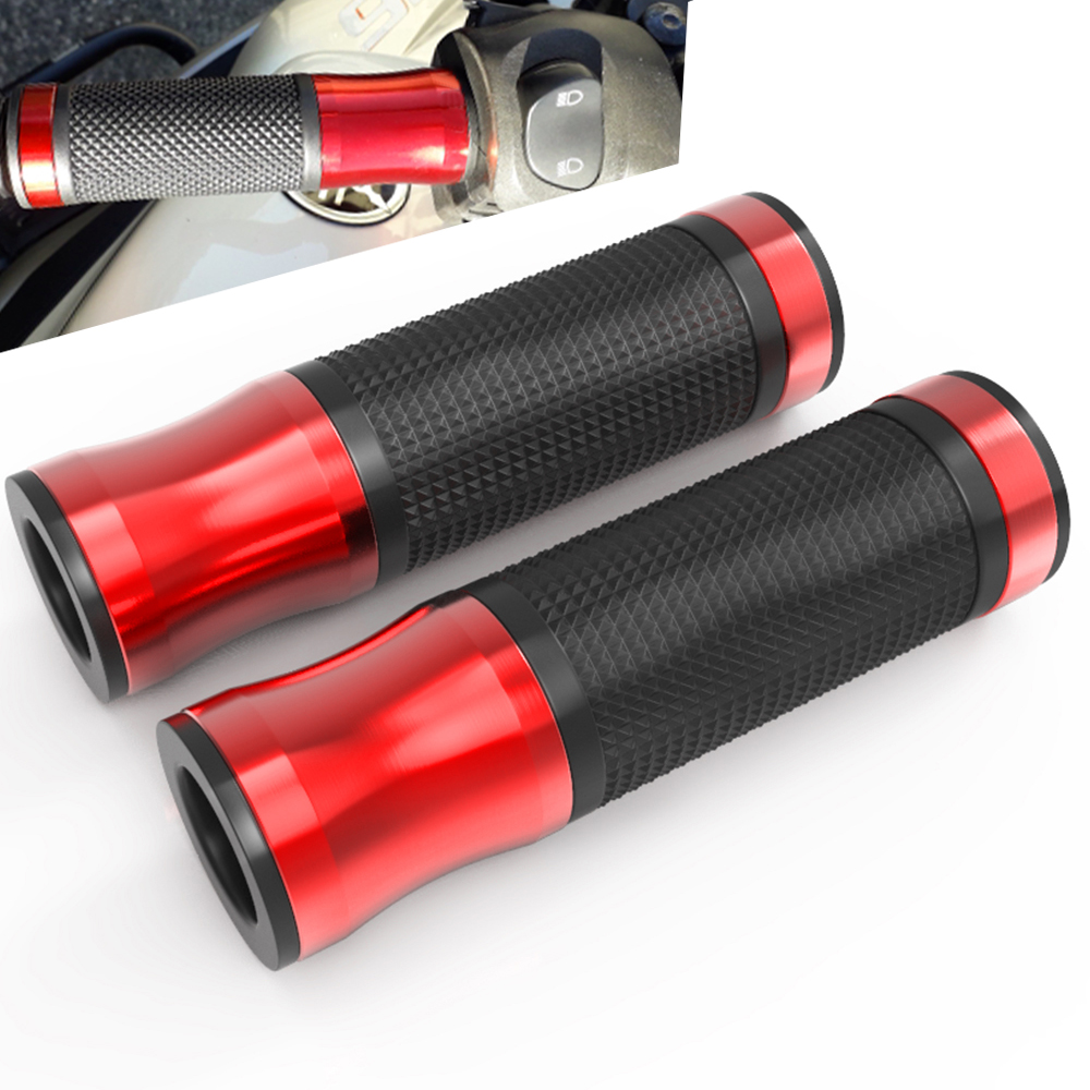 7 8 quot 22mm Universal CNC Aluminum Rubber Motorcycle Handle Grips For ducati monster 796 795 multistrada 1200 streetfighter 848 in Grips from Automobiles amp Motorcycles