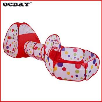3 en 1 juguetes tienda de juegos para niños portátil plegable túnel Pop Up bebé baloncesto juego casa al aire libre juguetes parque infantil regalo