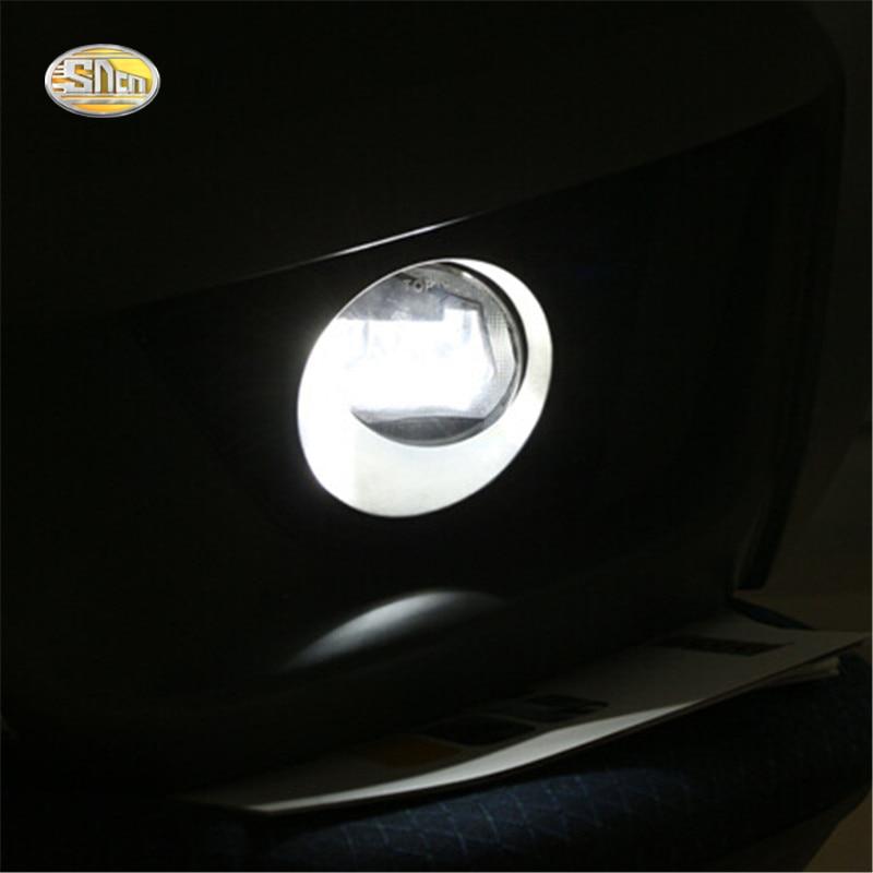 ФОТО Led fog lamp + Daytime running lights for Toyota Prado RAV4 Venza Corolla Camry dual mode accessories
