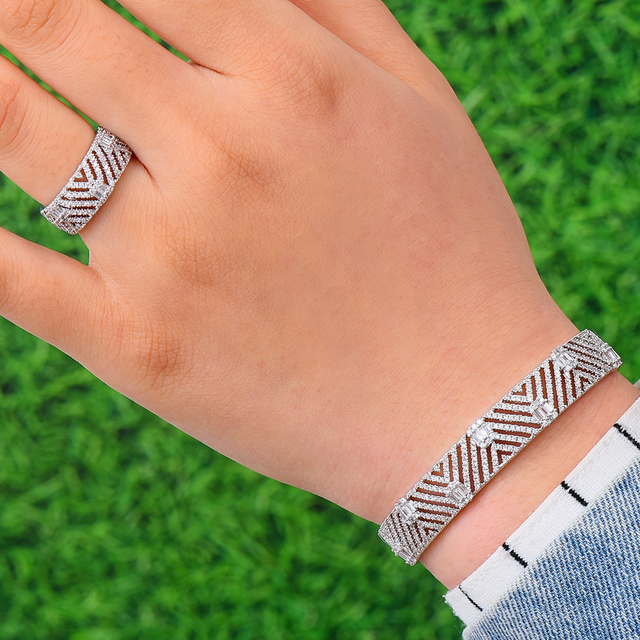 GODKI Luxury Trendy Saudi Arabia Bangle Ring Set Jewelry Sets For Women Wedding Engagement brincos para as mulheres 2019