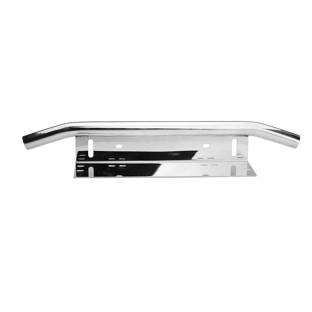 Silver Car Bull Bar Light Mounting Bracket Car License Plate Frame ...