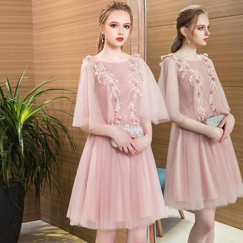 Vestido de verano para mujer nuevo vestido de fiesta Rosa moda elegante club ropa colgante diseño de cuello Rosa 2017 primavera - 4