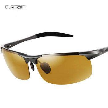 2019 Fashion new HD polarized night vision glasses Night safety driving mirror Intelligent color yellow lenses Anti UV Sunglasse