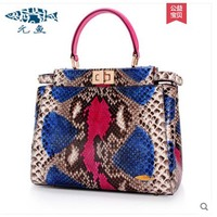 yuanyu New type boa skin leather bag for ladies handbag snake pattern single shoulder bag large capacity simple women handbag