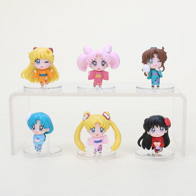 Online Shop 6pcs Set Anime Sailor Moon Figure Toys Tsukino Usagi