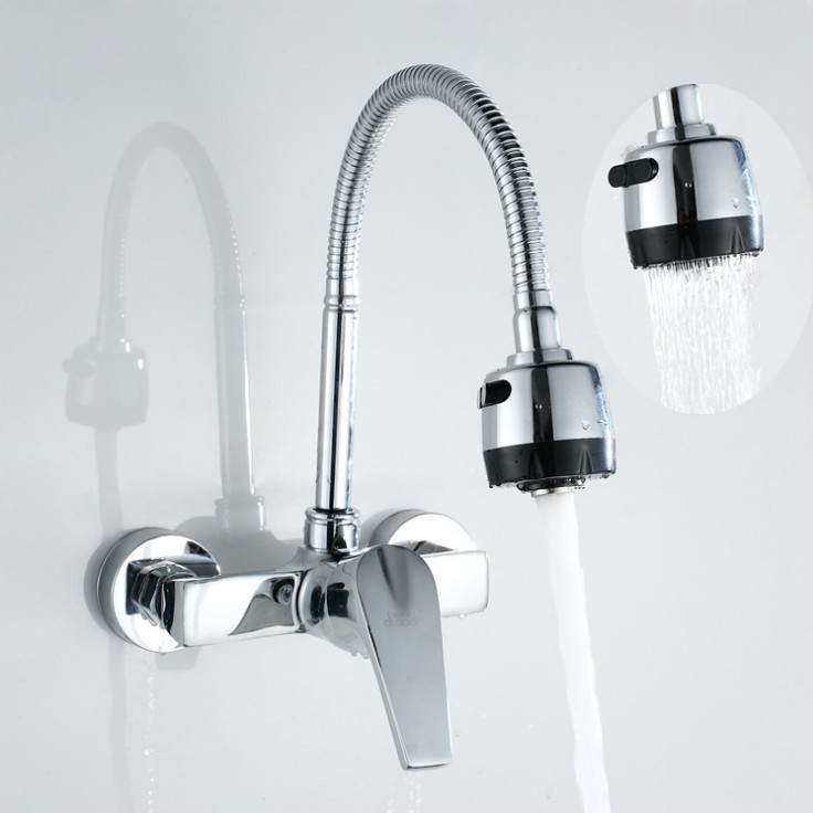 Flexible Faucet Spout Wall Mounted