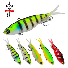 Fishing Lure Lead Fish Wobbler Soft Bite Silica Gel Grub Twintails Salt Water Lures