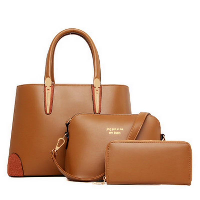 2017 women leather handbag women messenger bags ladies brand designs bag famous bags handbagpursemessenger bag 3 sets