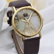 2017 Relogio Masculine erkek kol saati Women Fashion Retro Style Dial Leather Band Quartz Analog Wrist Watches #June13