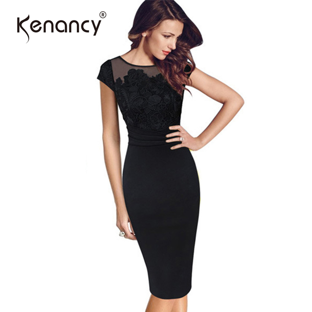 Kenancy Clearance 3xl Plus Size Hook Flower Lace Dress Women Ruffle
