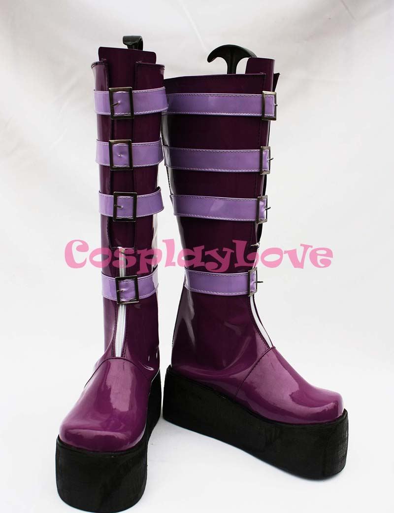 Game Unlight Sheri GrandGuignol Purple Cosplay Shoes Boots Hand Made Custom-made For Halloween Christmas Festival CosplayLove
