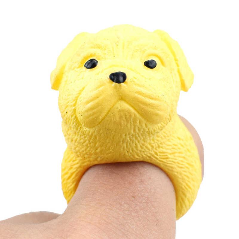 Mini sevimli 3D hayvan köpek yüzükler sevimli köpek parmak yüzük oyuncaklar çocuklar için yüzük takı yüzük oyuncaklar kız güzellik oyuncaklar parmak bebek oyuncak