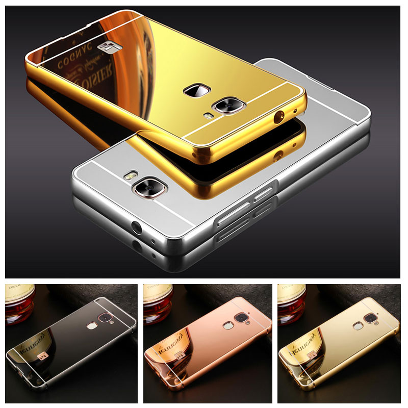 For LeTV LeEco Le2 Case <font><b>X527</b></font> 5.5'' Mirror Aluminum Metal Frame + PC Back Cover For LeEco <font><b>Le</b></font> <font><b>2</b></font> Pro X620 X520 / <font><b>Le</b></font> S3 X622 X626 image