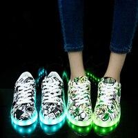 2019 Women Shoes Woman Led Light Sneakers 35~44 Couple Sports Sneaker Tenis Feminino Shoe Girl Sport Chaussures Femme Flat X2