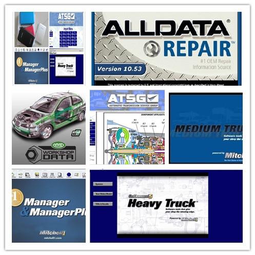 все данные ремонт программного обеспечения alldata 10.53 и Митчелл по требованию+мото тяжелых грузовиков 27in1 внешний жесткий диск 1тб