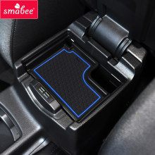 smabee Gate slot pad For Ford FOCUS RS ST 2015-2017 Automotive interior Non-slip mats RED/BLUE/WHITE/BLACK 18pcs(China)