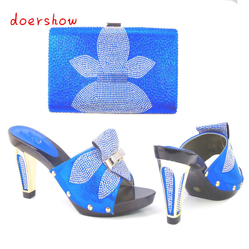 Fashion Italy Design Italian Matching Shoe and Bag Set African Wedding Shoe and Bag Sets Women Shoe and Bag To Match!HJJ1-6