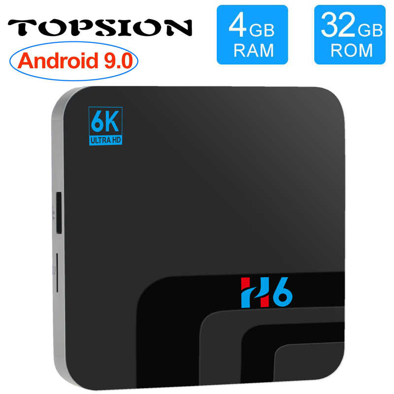 Topsion Android 9,0 Smart tv BOX 4G DDR3 32G EMMC ROM телеприставка 6K 3D H.265 Wifi медиаплеер приемник