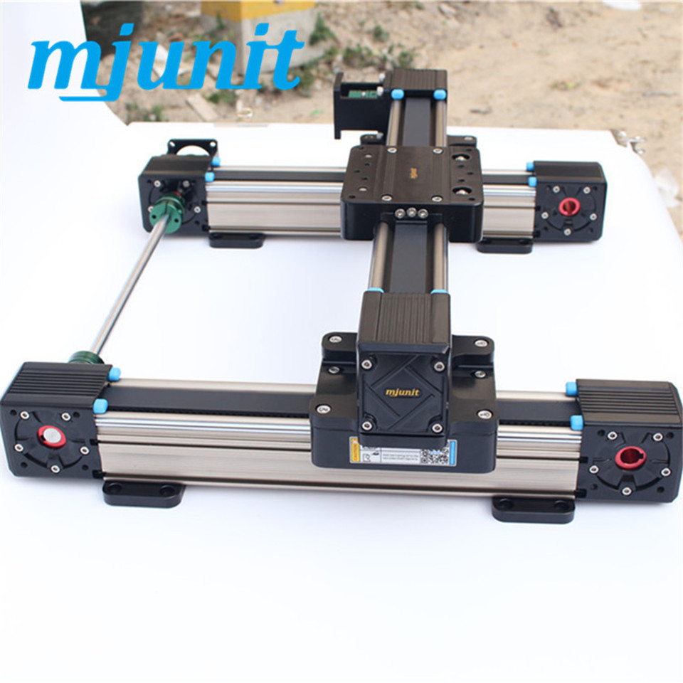MJUNIT MJ60 belt drive linear guide rail 3-axis wood cnc router / 3d foam cutting machine linear guide rail linear axis with toothed belt drive belt drive linear rail reasonable price guideway 3d printer linear way