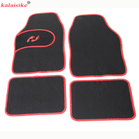 kalaisike universal car floor mats for Mitsubishi All Model ASX outlander lancer pajero sport pajero dazzle car styling