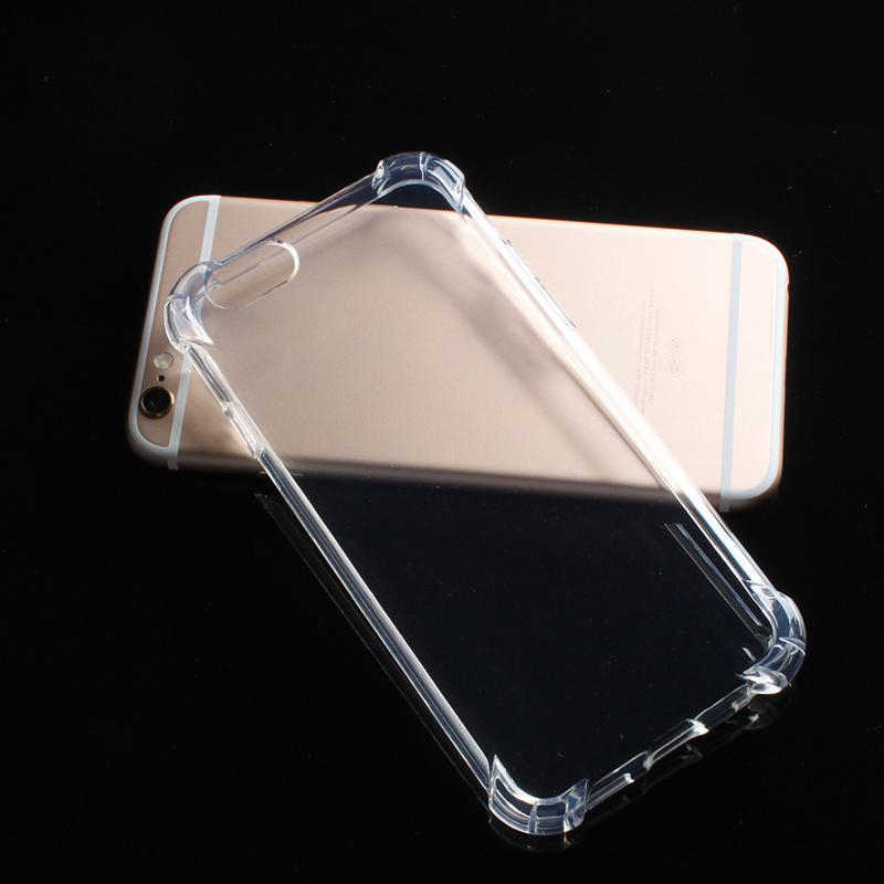 Para iPhone 5 5S SE Coque Capa Casos 2018 Anti-knock Tampa Do Telefone Claro Para iPhone X 8 7 6 6 s Mais Macio TPU Caso de Telefone Transparente
