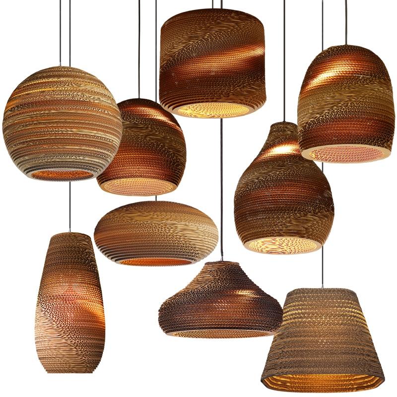 Oval Brown Pendant Lights Honeycomb paper drop Lamp For Dinning Room kitchen Restaurant Lighting Fixtures Droplight Suspension ...