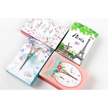 1pack /lot Lovely Paris Tower 6 Fold Notes Self-Adhesive Sticky Memo Pad N Times Sticky Notes School Stationery 1pack lot kawaiii memo weekly plan mini memo pad n times self adhesive schedule sticky notes stationery for school and office