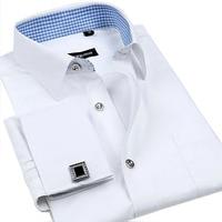 Free Shipping 2014 Long Sleeve Men Men S Shirts French Cufflinks Shirts Sleeve Nail Big Yards