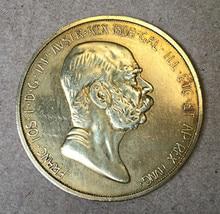 Здесь можно купить   1908 Austria - Habsburg 100 Corona - Franz Joseph I Reign  .9999 pure Gold Plated Copy Coin Home Decor