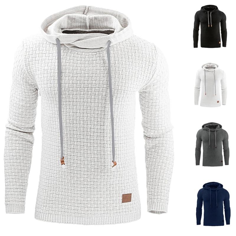INCERUN Mens Autumn Hoodies Fashion Casual Slim Fitness Hip Hop Hooded Sweatshirt Men Sportswear Hoodie Tracksuits Pullovers 4XL