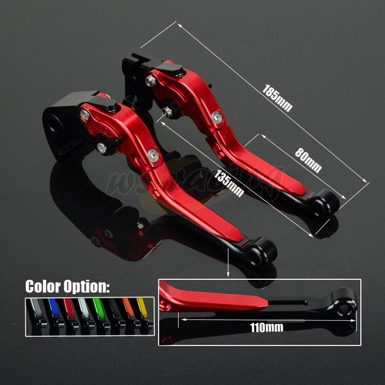 CNC Adjustable Motorcycle Billet Foldable Pivot Extendable Clutch & Brake Lever For HONDA CB1000R 2008-2016 CBR1000RR 2004-2007 cnc adjustable motorcycle billet foldable pivot extendable clutch