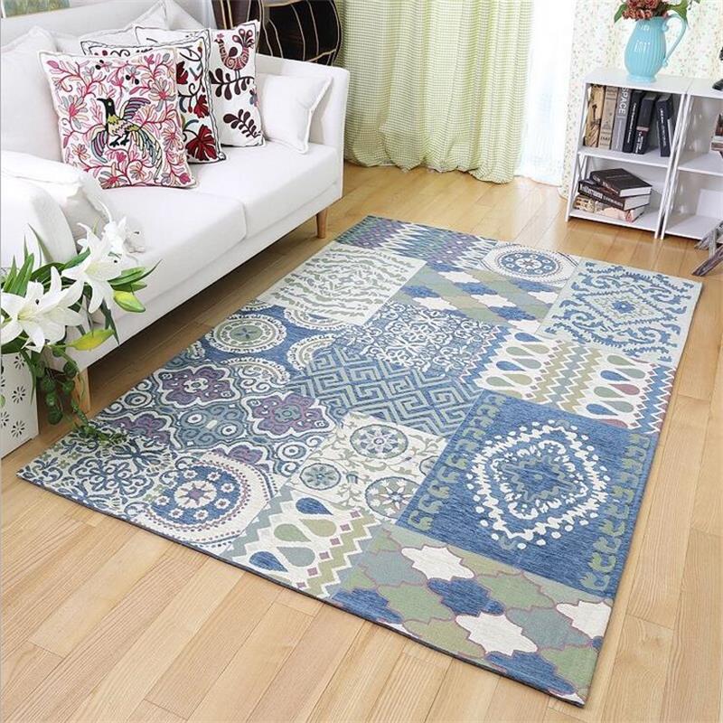 Mar egeo azul alfombras para sala casa fresca dormitorio for Alfombras y tapetes