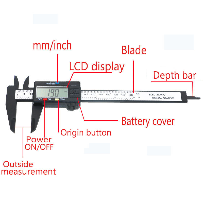Aliexpress com Buy 150mm LCD Digital Caliper Electronic