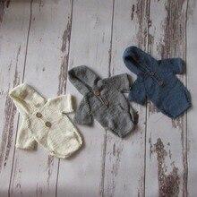 Ручной работы для новорожденных комбинезон с капюшоном новорожденных пеленки для новорожденных Подставки для фотографий