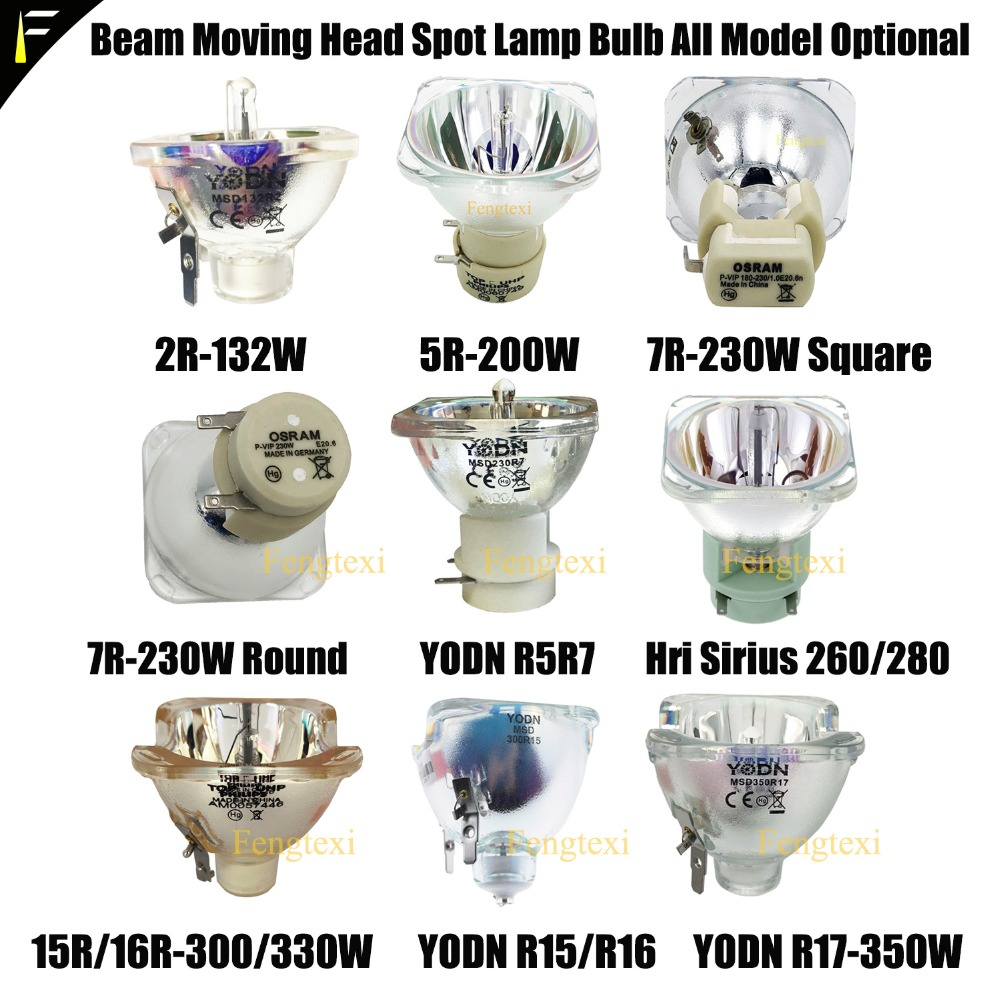 R Series Stage Moving Head Beam MSD Lamp Replacing Bulb 2R5R7R10R16R17R 132w200w230w280w330w Light Source HID Discharge Lamp