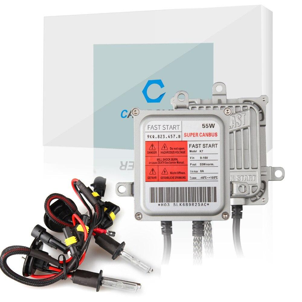 New Product K7 55w AC Super Canbus H1 H3 H7 H11 9005 9006 HID Xenon Connversion Kit 4300k 5000k 6000k 8000k 10000k Fast Bright