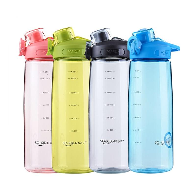 500 мл/750 мл/1000 мл Спортивная бутылка для воды прочная небьющаяся пластиковая Герметичная Бутылка для напитков Экологически чистая бутылка д...