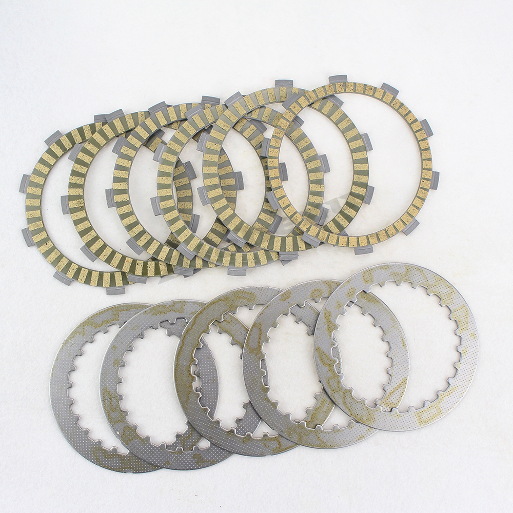 ACZ Motorcycle Engine Clutch Friction Plates Steel Plates Kit Clutch Frictions For HONDA Steed 400 Steed