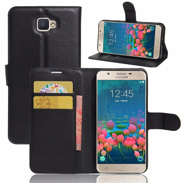 100% authentic d9fb1 cb787 US $3.65 |For Samsung Galaxy J5 Prime PU Leather Case For Samsung J5 Prime  SM G570F Flip cover bracket wallet plus card slots phone Cases on ...