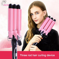 Professional Fast Heat Curling Iron thermoregulator Electric Hair Curler triple waver spiral curler curling 3 barrel hair curler