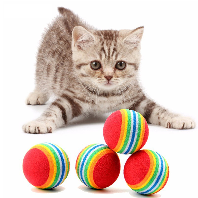 Westrice Cat Toy Hot Valued Bag 3.5cm Colorful EVA Ball Cat And Dog Toy Soft Funny Ball Pet Toy Free Shipping