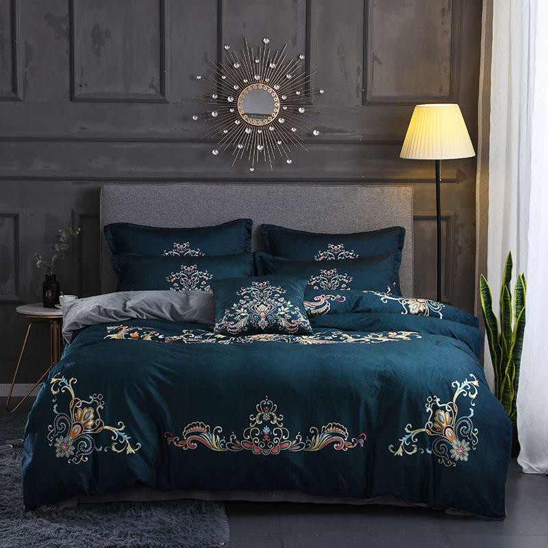 2018 Digital printing process Bedding Set king queen size Fleece fabric Duvet Cover and Pillowcases Boho Style Bed Linen2018 Digital printing process Bedding Set king queen size Fleece fabric Duvet Cover and Pillowcases Boho Style Bed Linen