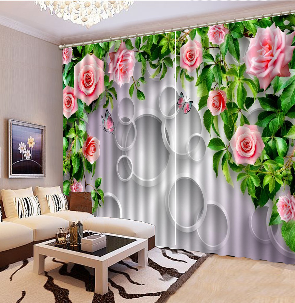 3d Curtains Pink Petite Flowers Butterfly Circle 3D Floral Curtains Living Room Bedroom Beautiful Practical Blackout Curtains3d Curtains Pink Petite Flowers Butterfly Circle 3D Floral Curtains Living Room Bedroom Beautiful Practical Blackout Curtains