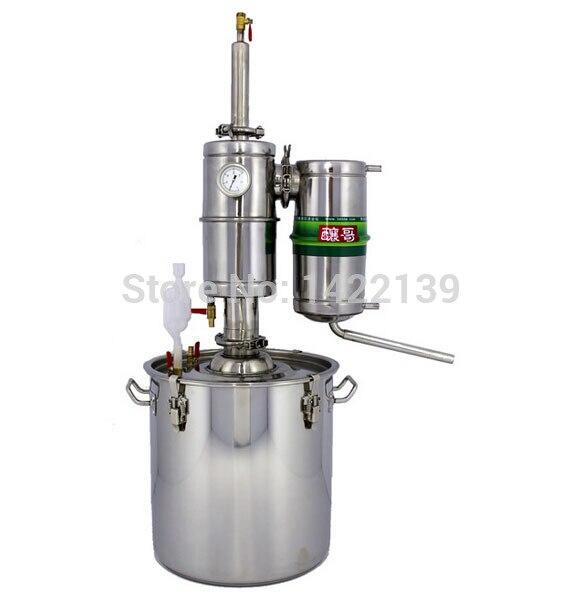 25L Alcohol Stainless Distiller Home Brew Kit Moonshine Still Wine Making Boiler 10l water alcohol distiller home brew kit still wine making essential oil boiler