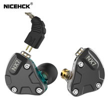 NICEHCK NX7 Hybrid 7 Driver IEM In Ear Oortelefoon 4BA + Dual Koolstof Nanobuis Dynamische + Piëzo Keramiek HIFI Monitor stage 2Pin