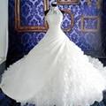 Elegant Vestidos De Novias Halter Appliqued Beaded Sleeveless Floral Chapel Train Wedding Dresses