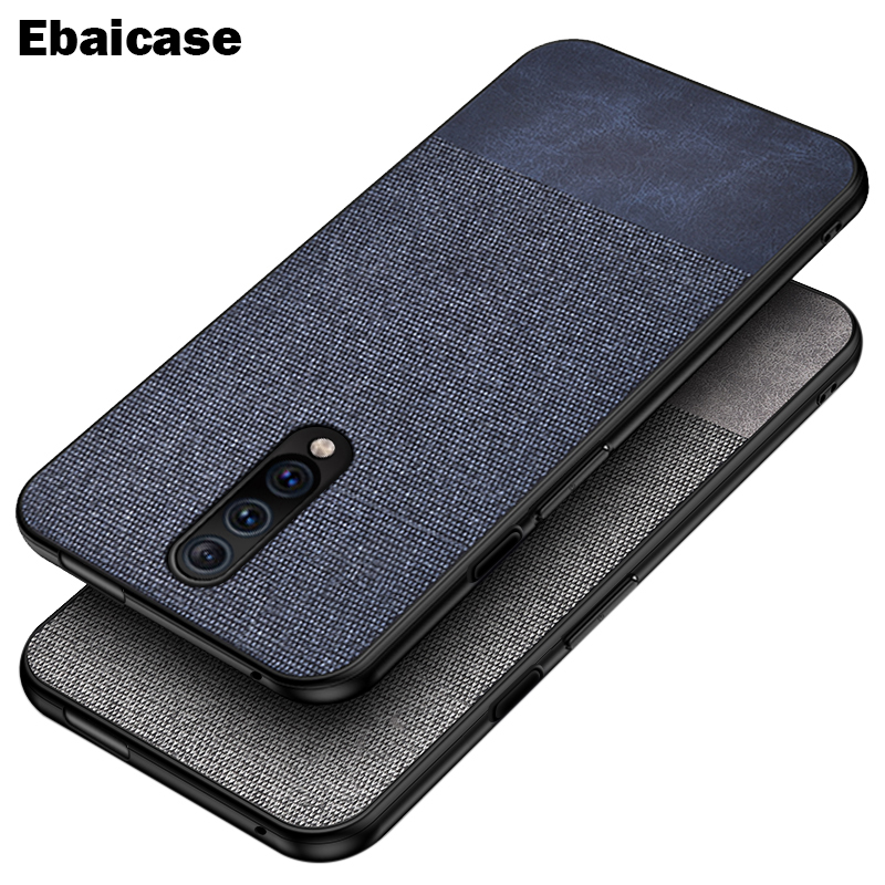 OnePlus 7 Pro Case Shockproof Back Cover Cloth Fabric Silicone Soft Edge Protect Case OnePlus 6T 6 7 Pro Case OnePlus 6T Cover(China)