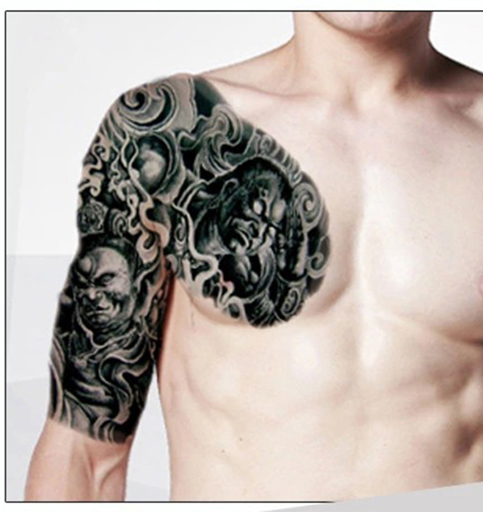 Size 24*18cm Custom design Chest Waterproof Large Temporary Tattoo ...