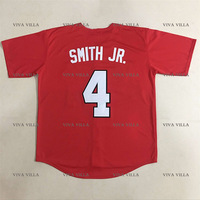 Dennis Smith JR Baseball Jersey 4 NC State Wolfpack College Jerseys All Stitched Men S Team