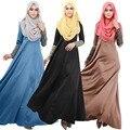 Tamanho grande mulheres muçulmanas vestido Apliques New Engrossar Vestuário Abaya Jilbabs E Abayas Caftan Árabe Turquia Mulheres Muçulmanas Se Vestem